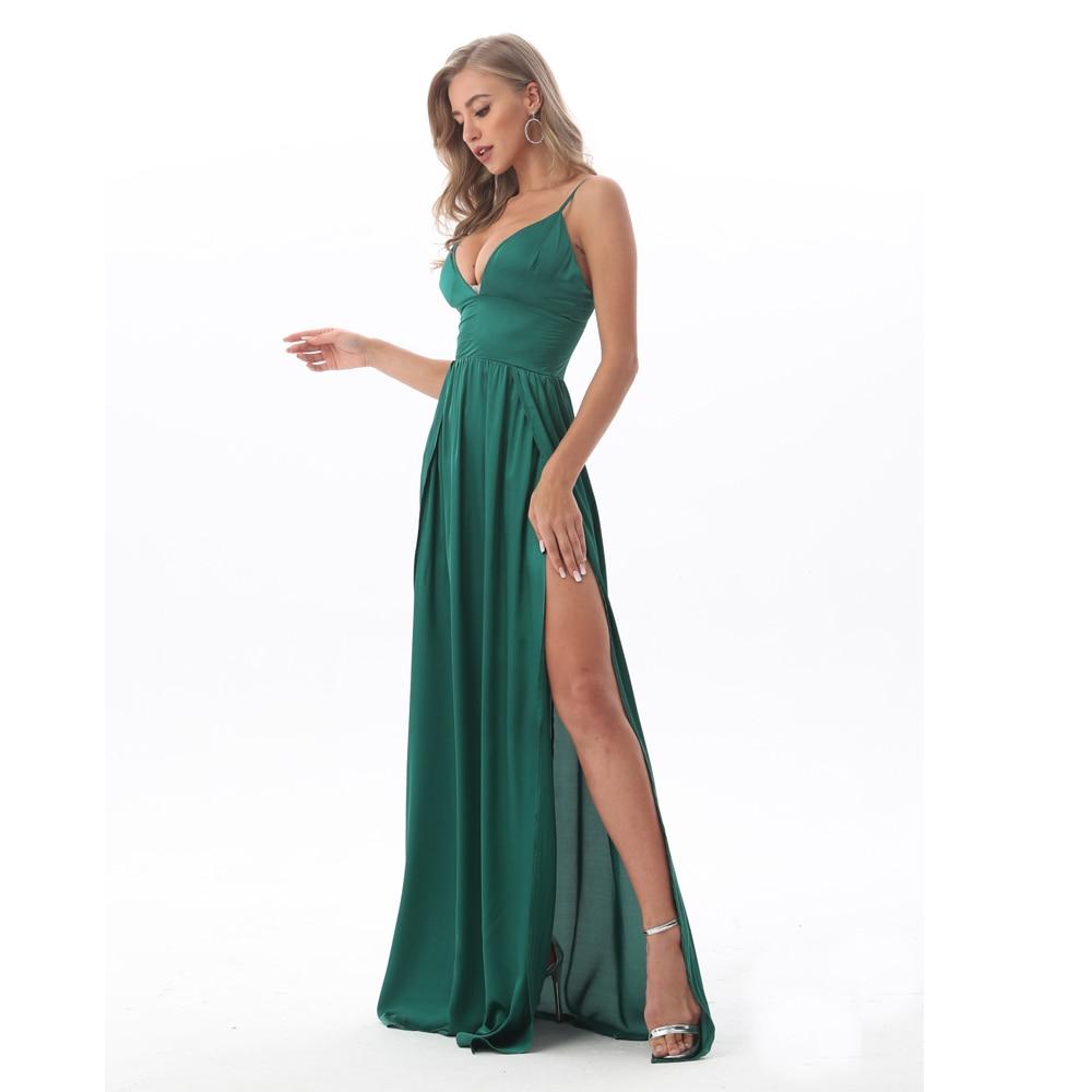 вечернее платье в пол с боковым разрезом