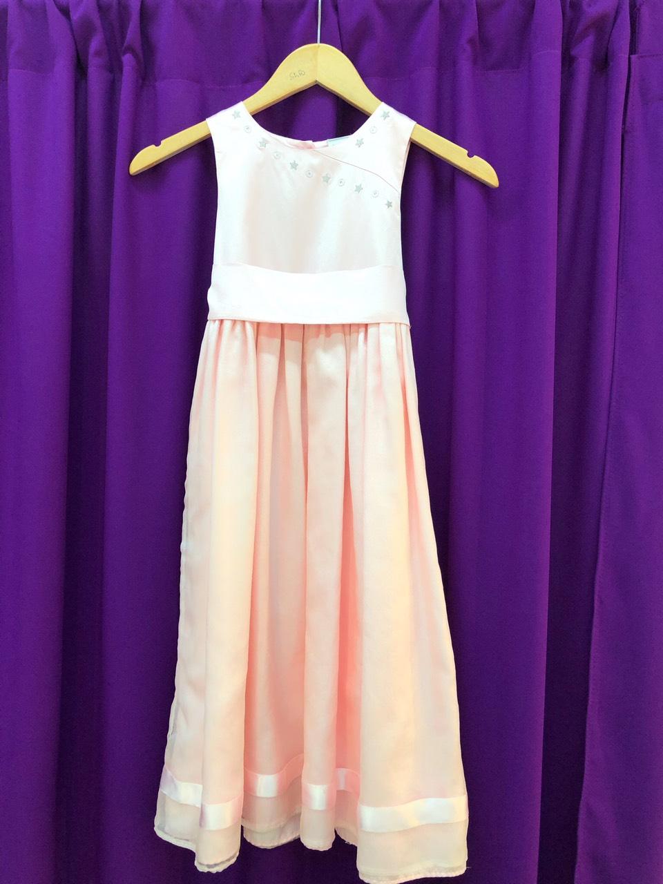 детское персиковое платье для фотосессии