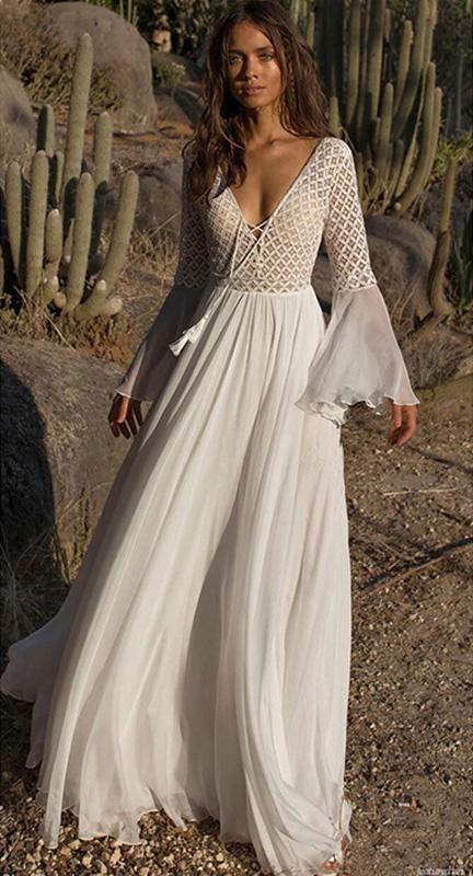 белое платье в пол с рукавами прокат киев