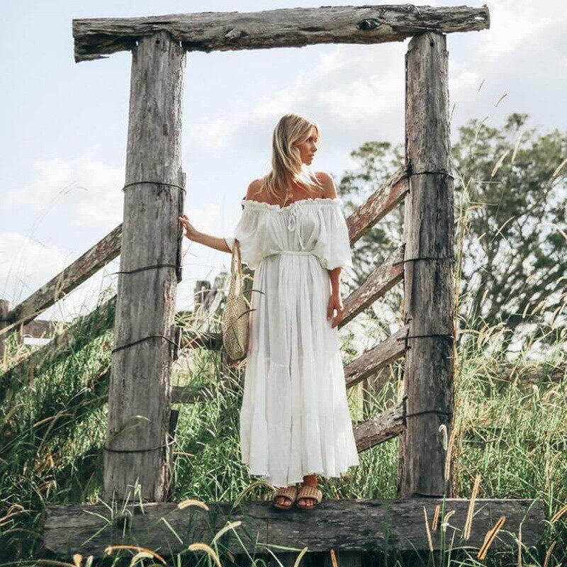 белое платье бохо прокат киев для фотосессии