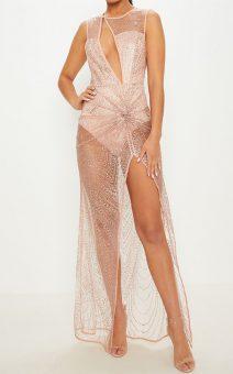 прозрачное блестящее платье напрокат киев