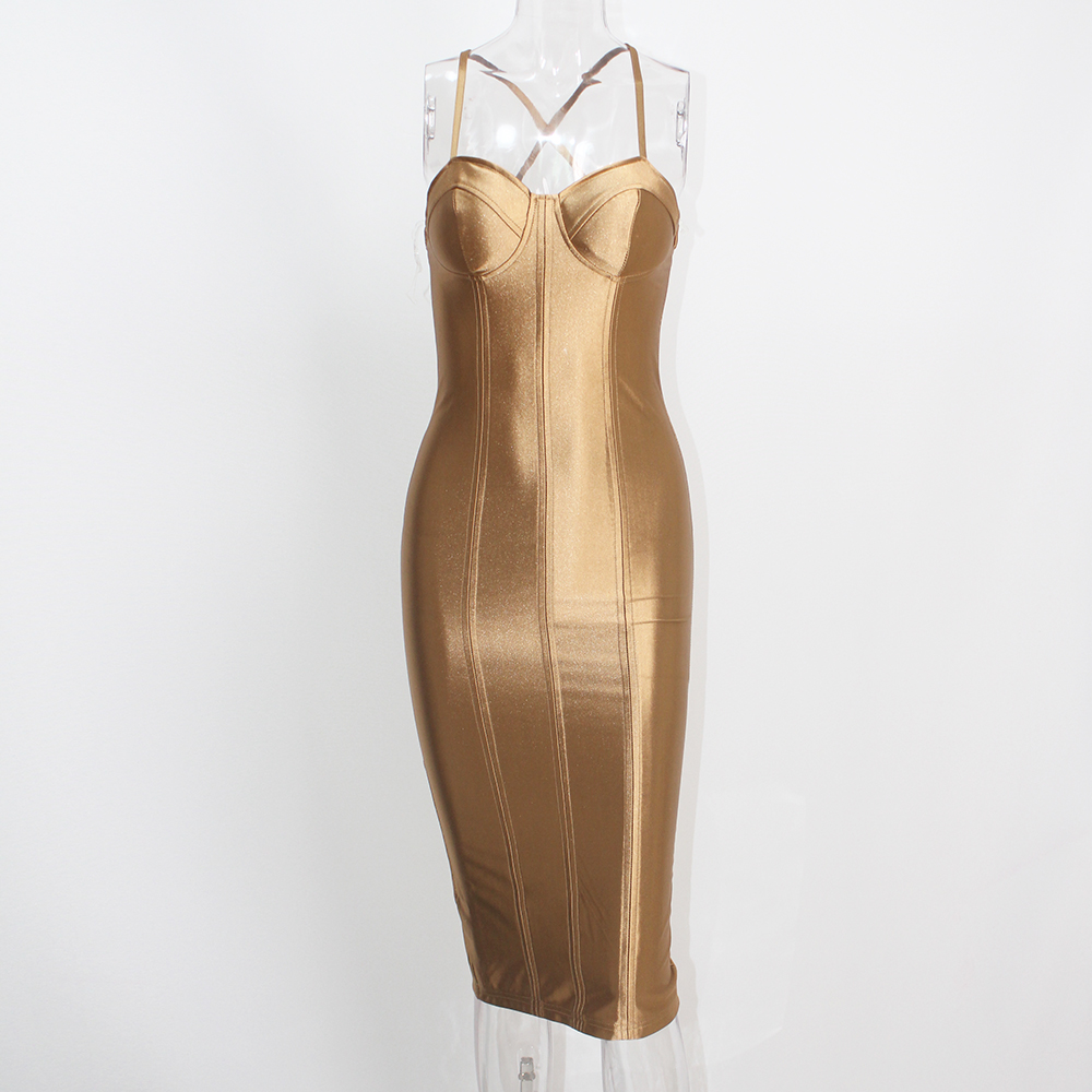 золотое платье миди киев