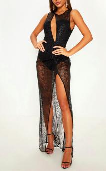 блестящее прозрачное платье на вечеринку купить аренда прокат киев