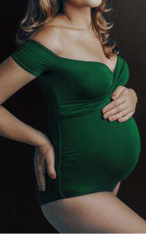 боди для беременных зеленый