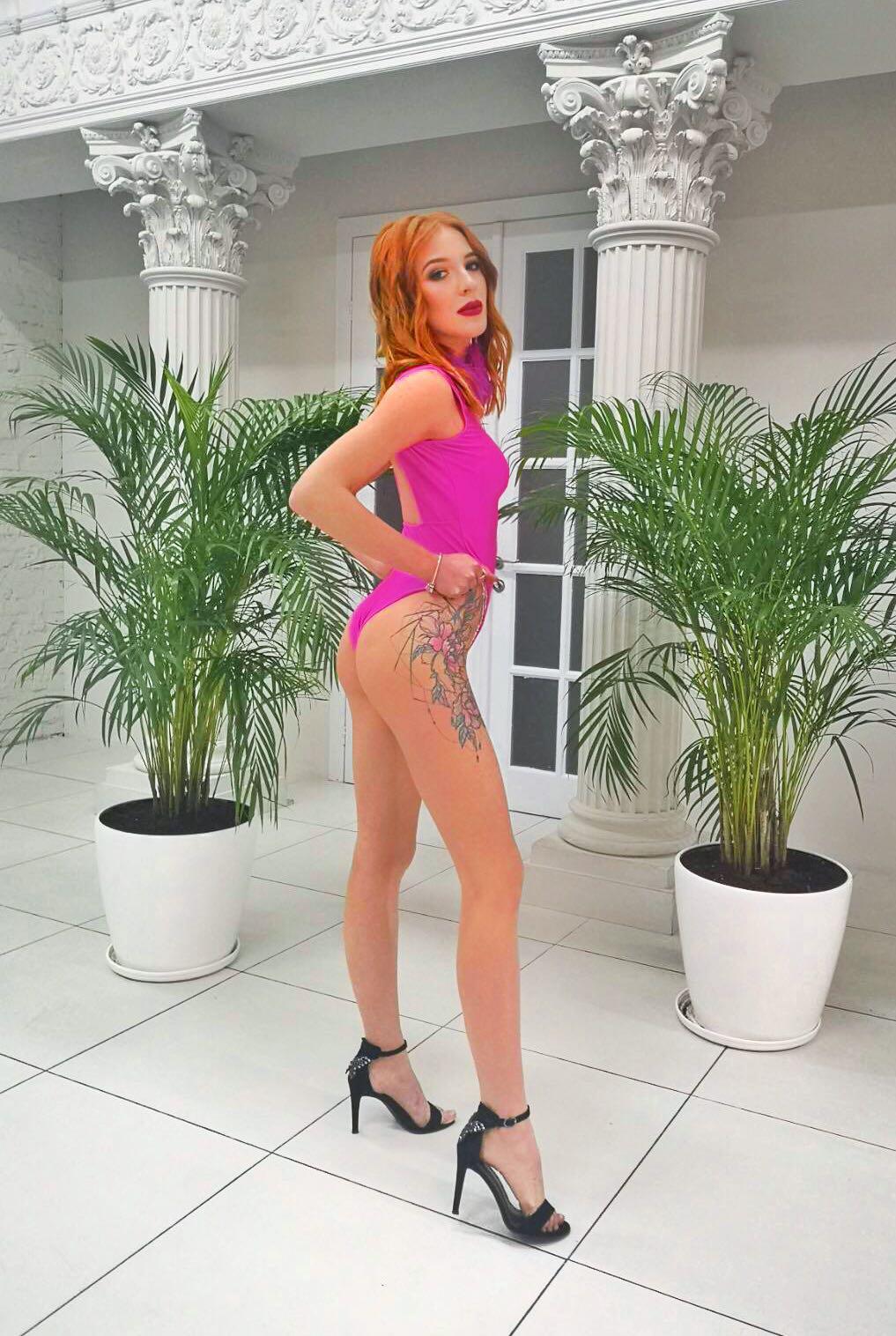 розовый боди с открытой спиной прокат киев