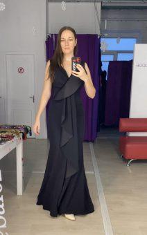 платье в стиле black tie прокат