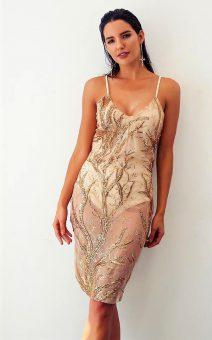 золотое прозрачное платье с боди прокатк киев