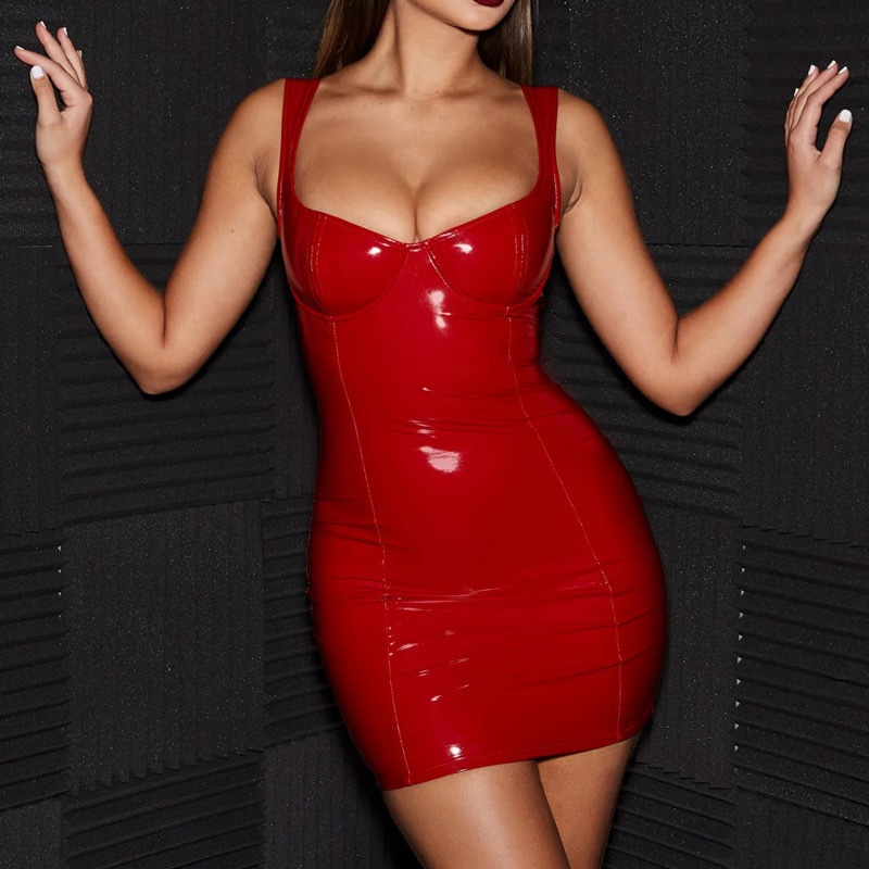 red latex dress kyiv