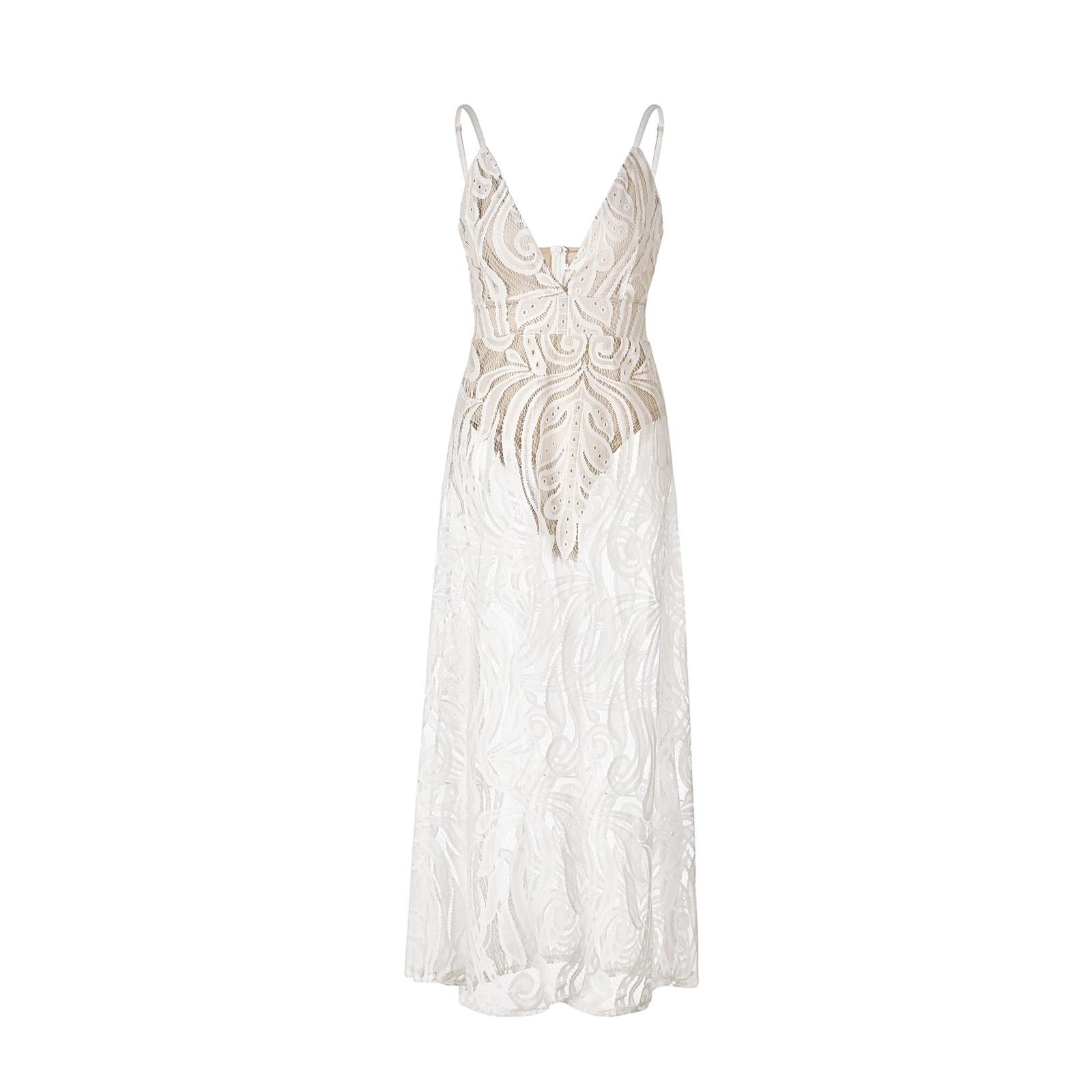 белое прозрачное платье в пол купить