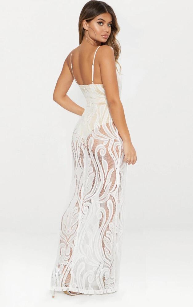 белое прозрачное платье в пол бохо купить киев