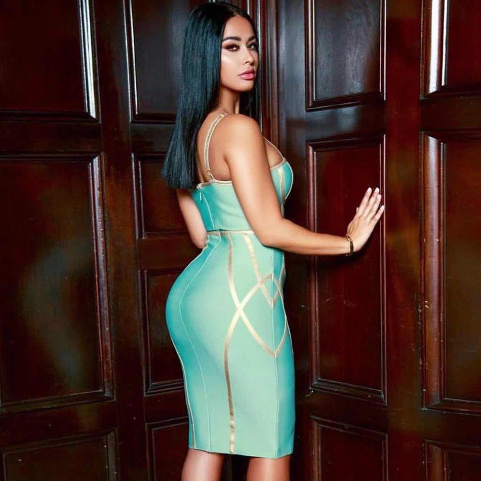 Мятное бандажное платье киев купить