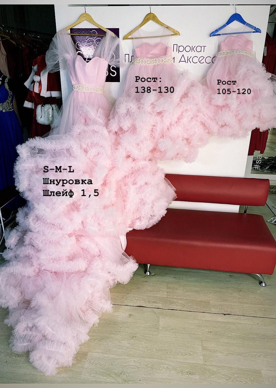 комплект платьев мама дочь family look розовое облако