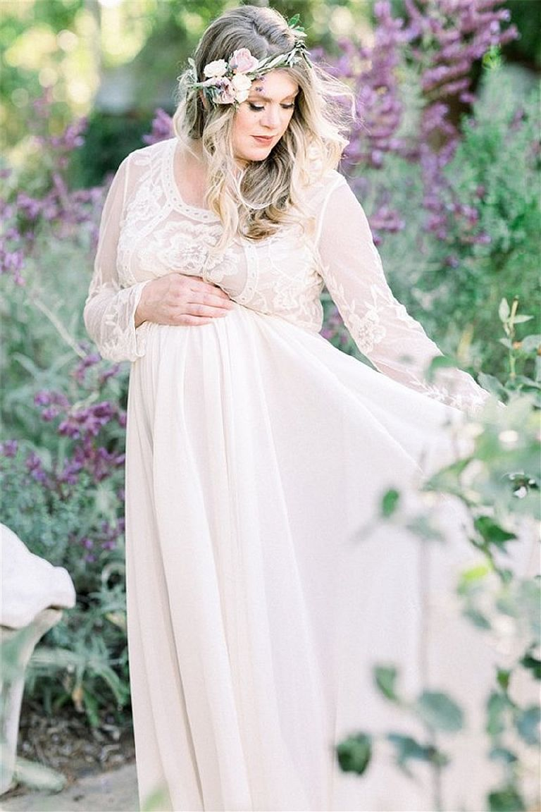 нежное платье для беременных на фотосессию прокат киев