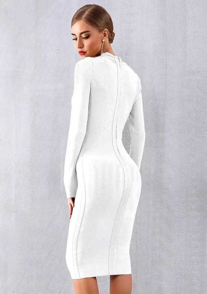 Белое деловое платье с рукавами аренда киев