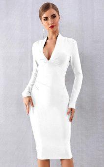 Белое деловое платье с рукавами купить киев