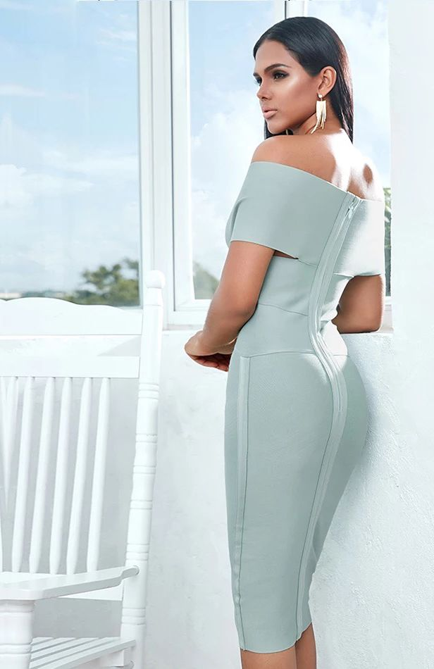 Бандажное платье с открытым верхом