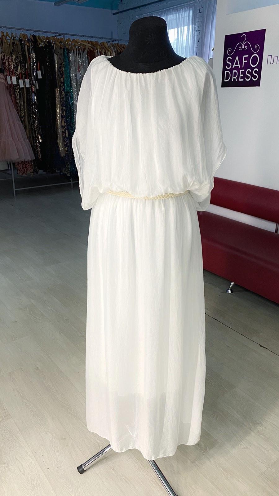 белое платье бохо прокат киев большой размер