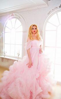 облачное платье розовое прокат киев