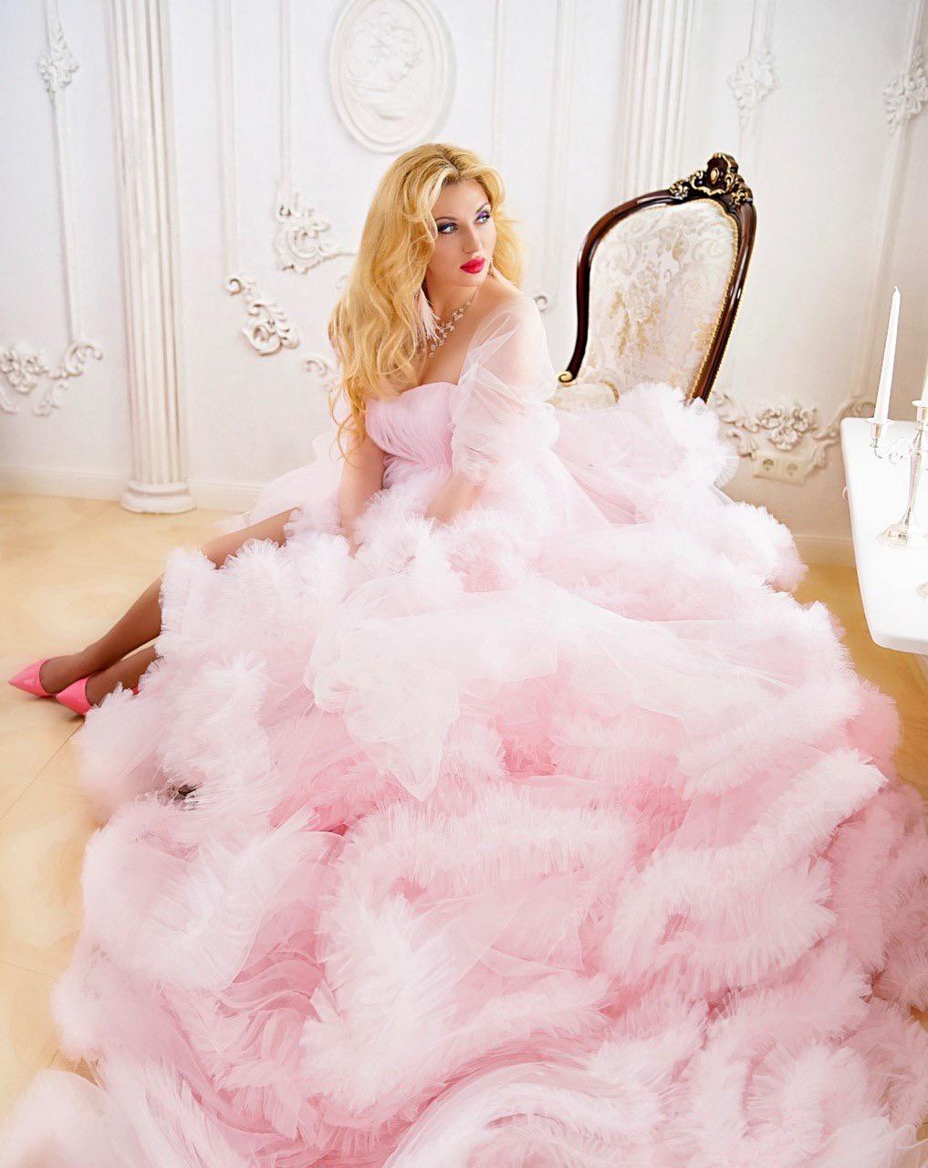 розовое платье облако