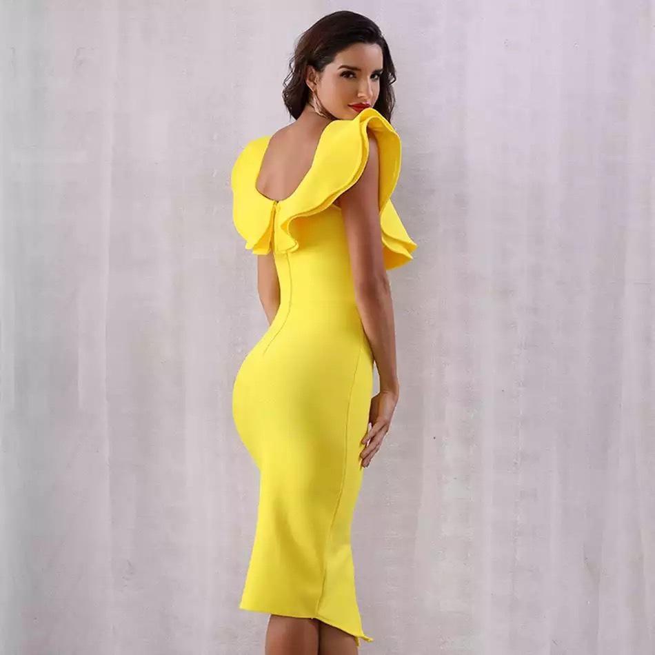 желтое короткое платье с воланом киев аренда