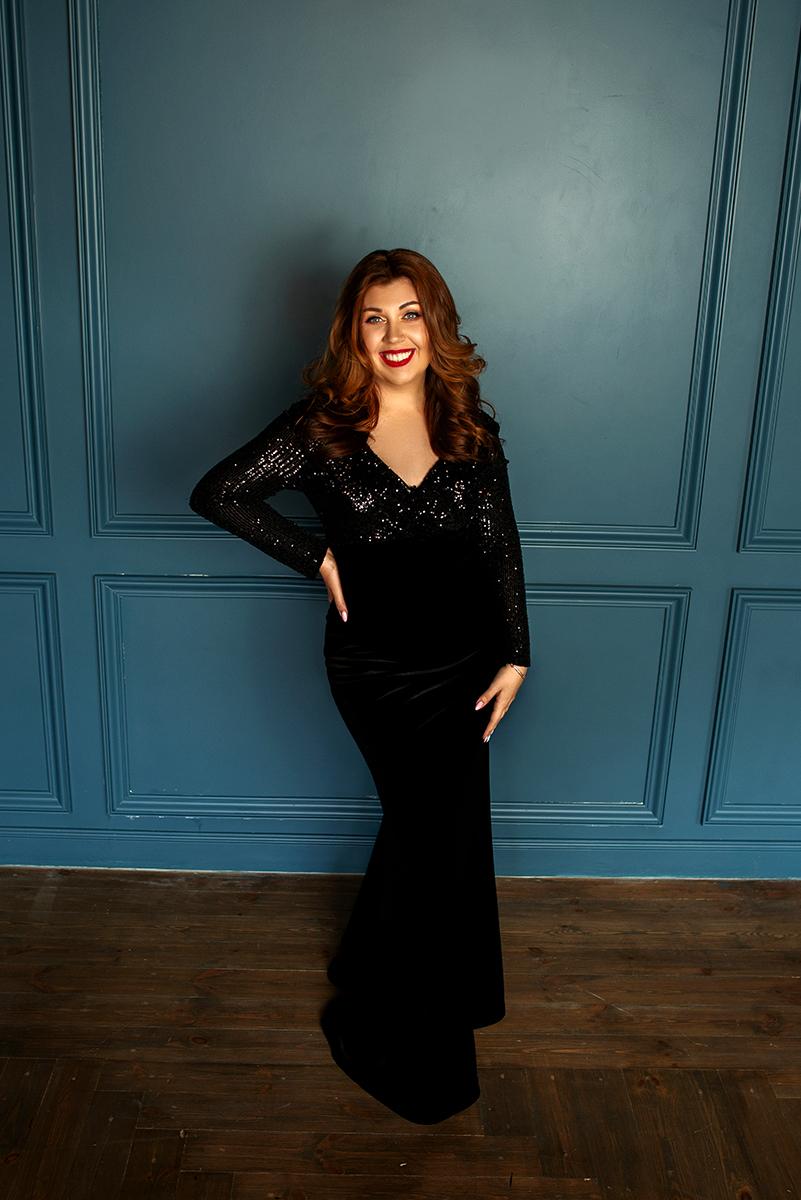 черное вечернее платье прокат