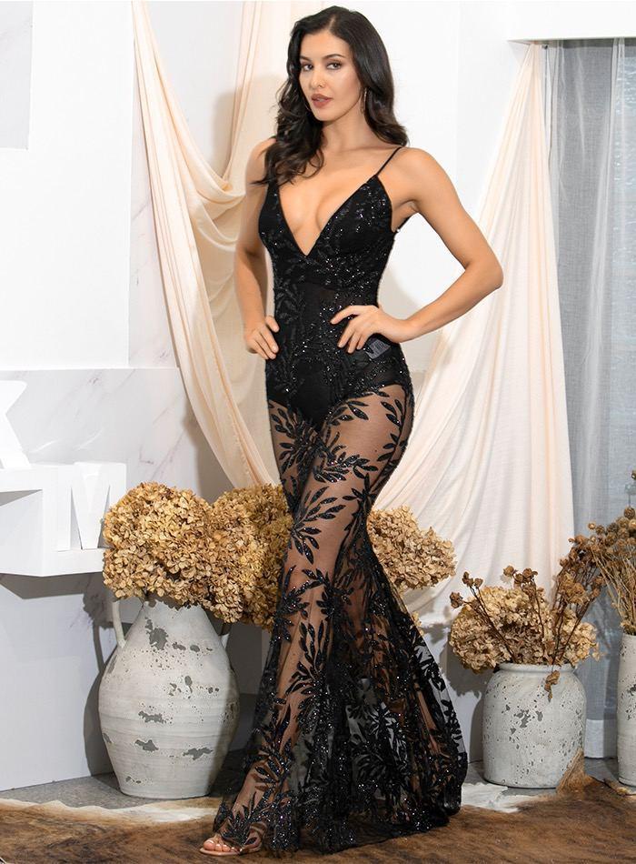 Черное кружевное платье прокат киев
