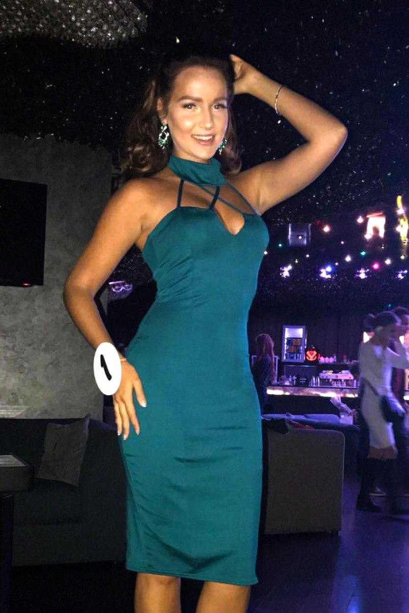 Зеленое коктейльное платье напрокат киев