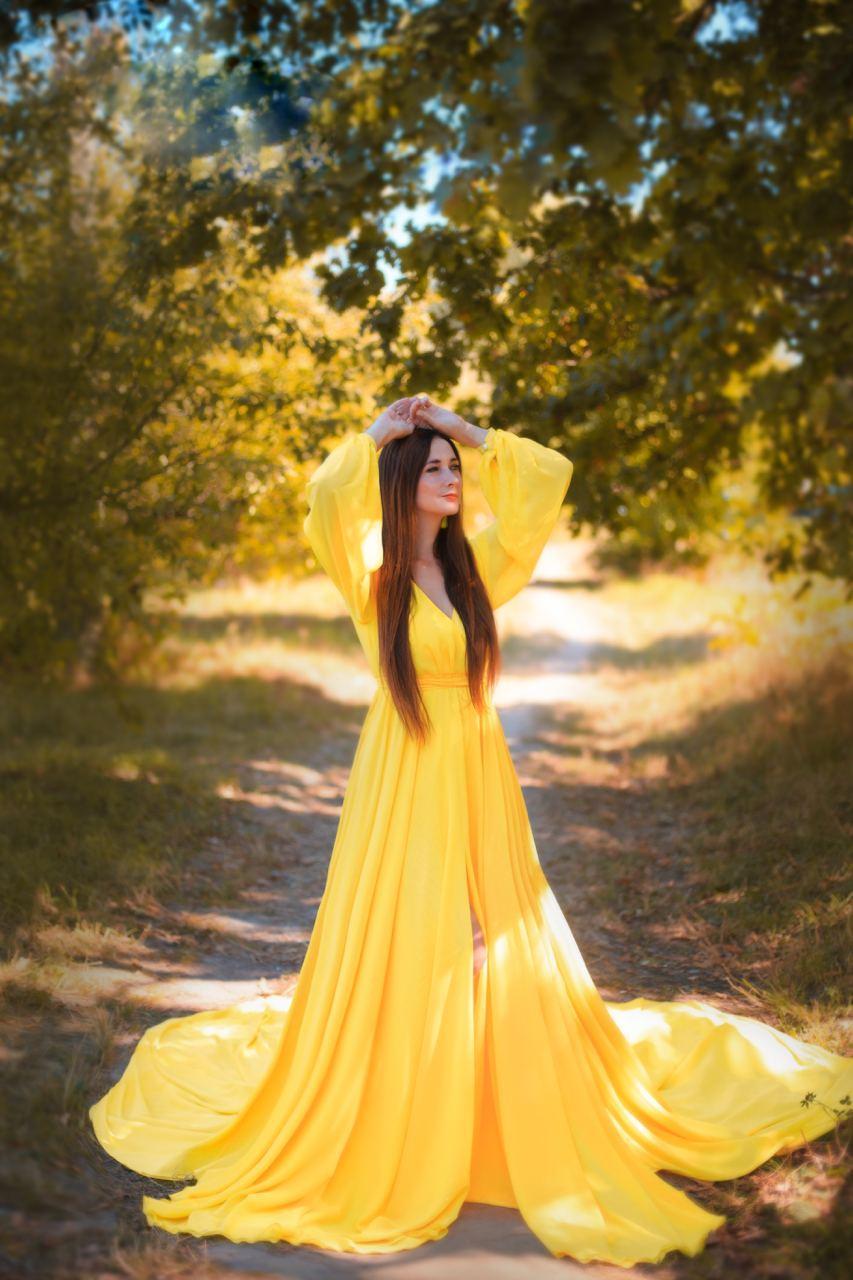 желтое платье напрокат киев