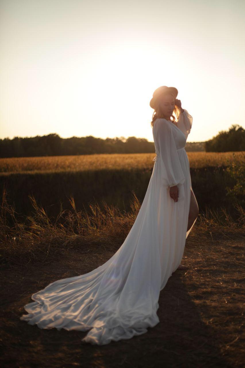 свадебное платье со шлейфом киев