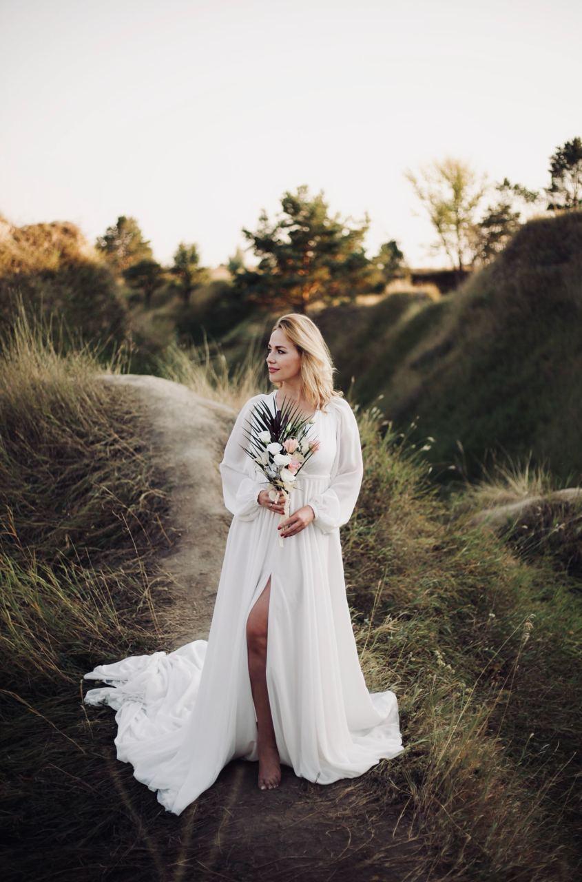 Простое свадебное платье для фотосессии киев
