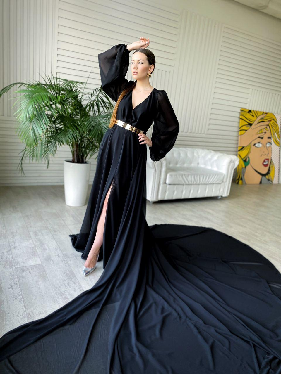 Чёное платье для фотосессии киев прокат