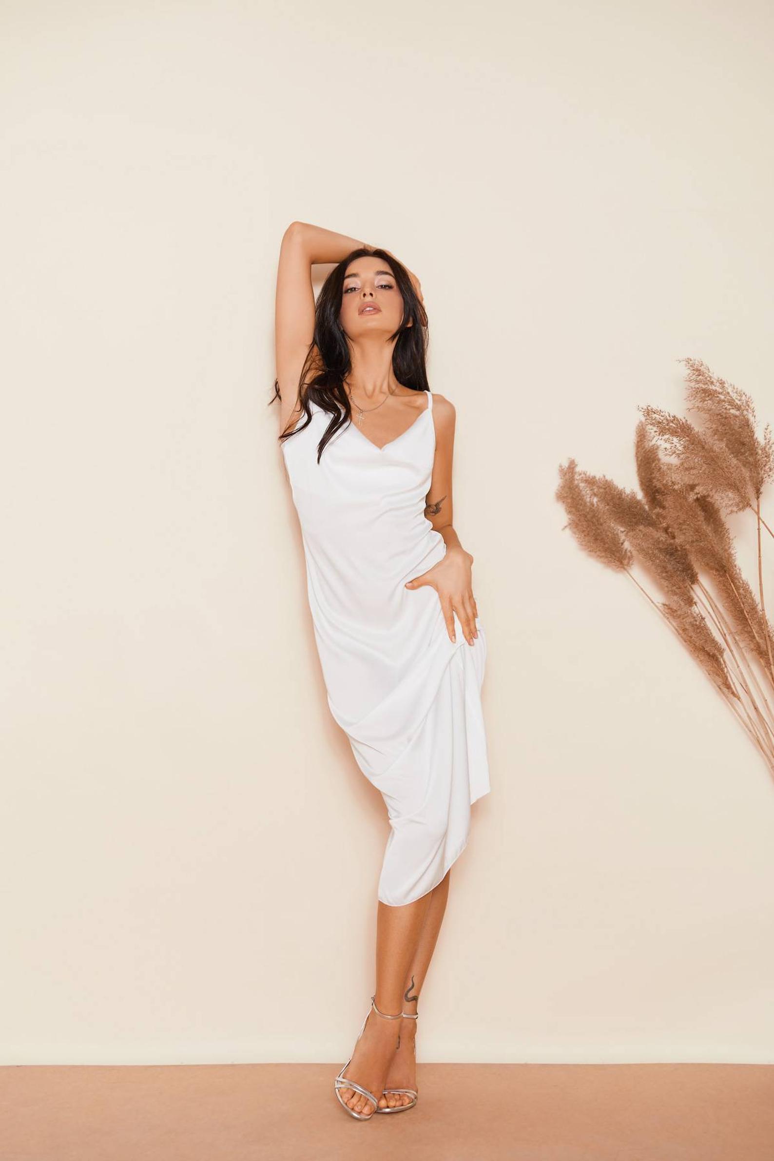 платье комбинация белая киев аренда