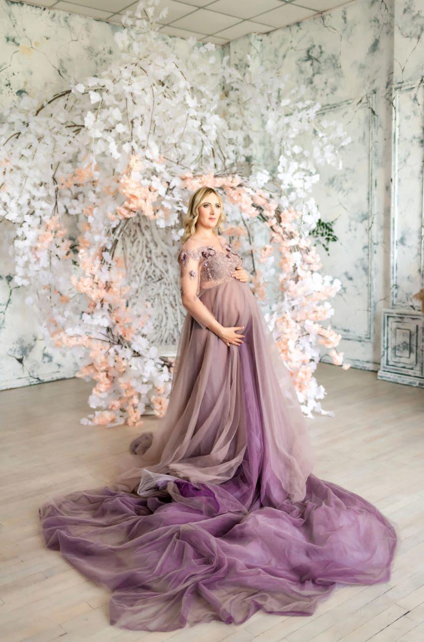 платье со шлейфом для беременных на фотосессию киев