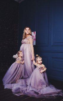 фэмели лук мама и дочка в одинаковых платьях прокат киев