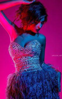 платье с перьями прокат киев